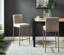 DIEGO-26 COUNTER STOOL-GREY/GOLD LEG Price shown for each -