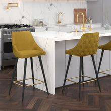Roxanne II 26'' Counter Stool set of 2 in Mustar Price shown