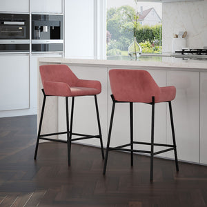 Baily 26'' Counter Stool set of 2 in Dusty Rose Price shown