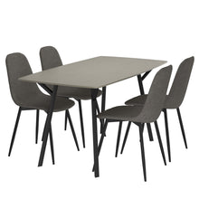 Megan 5pc Dining Set in Grey