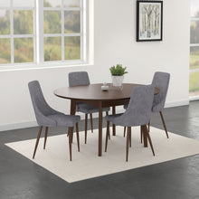 Alero/Cora 5pc Dining Set Walnut/Grey