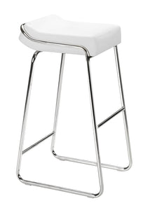 Wedge Barstool White - Bar