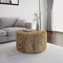EVA-COFFEE TABLE-DISTRESSED NATURAL - ACCENT FURNITURE
