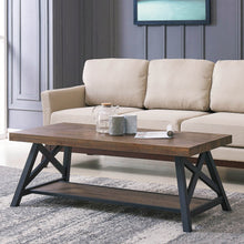 LANGPORT-COFFEE TABLE-RUSTIC OAK - ACCENT FURNITURE