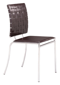 Criss Cross Dining Chair Espresso - Dining