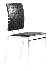 Criss Cross Dining Chair Black - Dining