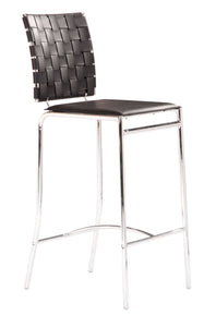 Criss Cross Counter Chair Black - Bar