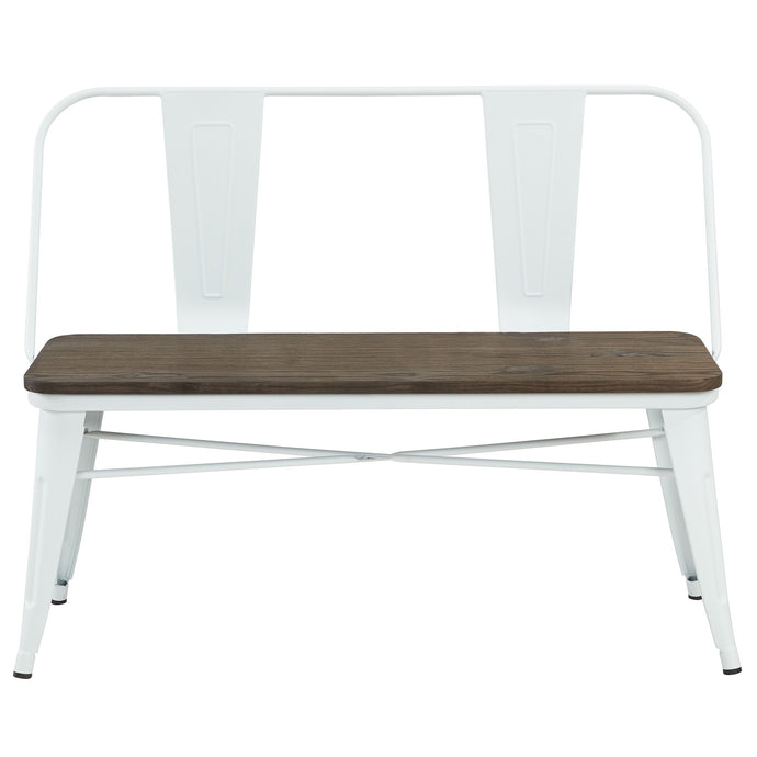 MODUS-BENCH-WHITE - ACCENT SEATING