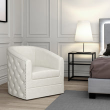Velci Swivel Accent Chair in Ivory