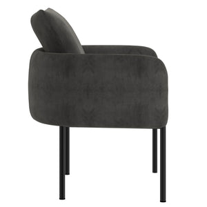 Petrie Accent Chair in Charcoal with Black Leg