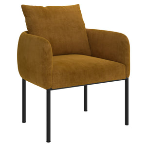 Petrie Accent Chair in Mustard with Black Leg