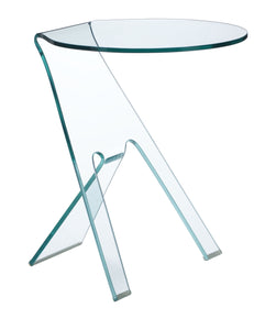 Journey Side Table Clear Glass - Living