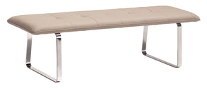 Cartierville Bench Taupe - Dining,Bedroom