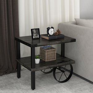 ZAHIR-ACCENT TABLE-DISTRESSED GREY - ACCENT FURNITURE
