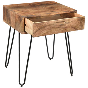 JAYDO-ACCENT TABLE-NATURAL BURNT - ACCENT FURNITURE