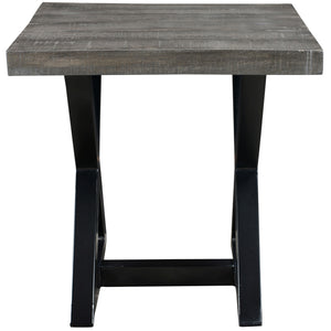 ZAX-ACCENT TABLE-DISTRESSED GREY - ACCENT FURNITURE