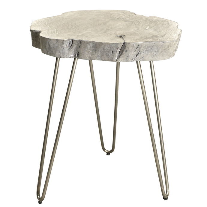 NILA-ACCENT TABLE-LIGHT GREY - ACCENT FURNITURE