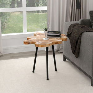 PARI-ACCENT TABLE-NATURAL/BLACK LEG - ACCENT FURNITURE