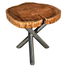 SHLOK-ACCENT TABLE-NATURAL/CHROME LEG - ACCENT FURNITURE