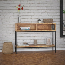Ojas Console Table in Natural Burnt