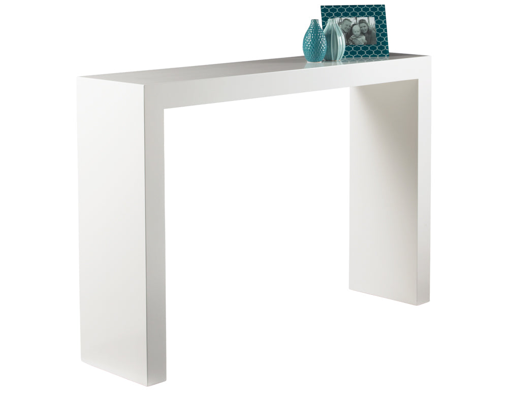 ARCH CONSOLE TABLE - HIGH GLOSS WHITE