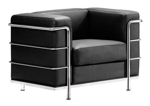 Fortress Arm Chair Black - Living