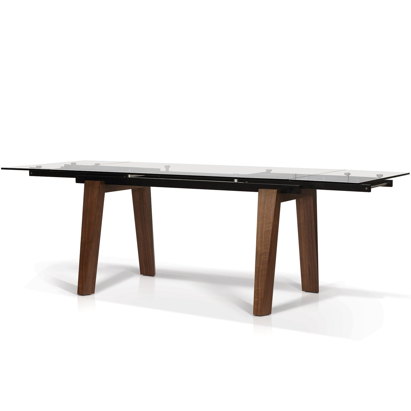 Abner rectangular glass top extension dining table - Dining