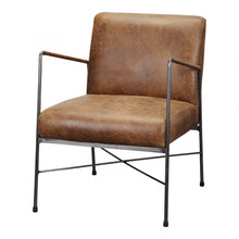 DAGWOOD LEATHER ARM CHAIR BROWN