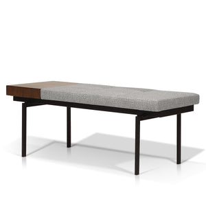 Lucie modern bench with side table - Living