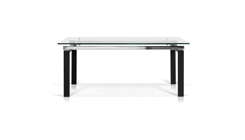 Lulie Rectangular Glass Top Dining Table