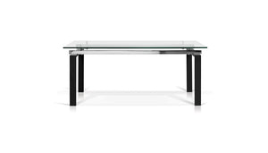 Lulie Rectangular Glass Top Dining Table - Dining