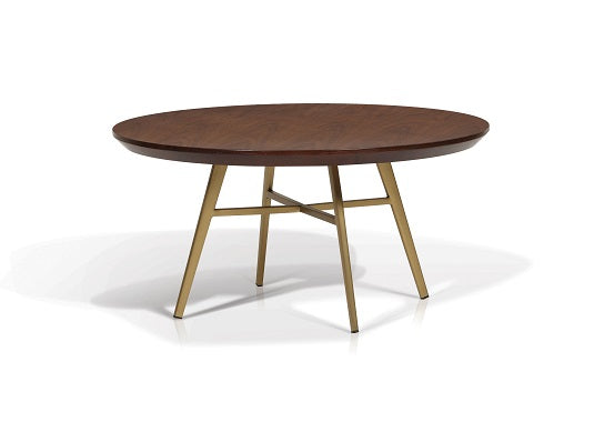 Jackie Round Walnut Top Coffee Table - Living