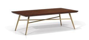Jackie Rectangular Walnut Top Coffee Table - Living
