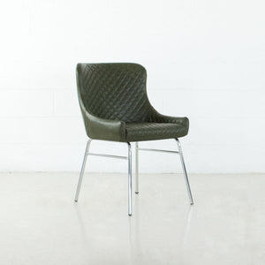 COLETTE Leatherette Chair Artichoke
