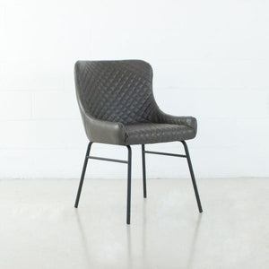 COLETTE Leatherette Chair Grey