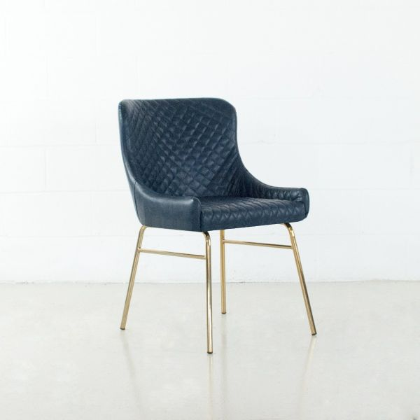 COLETTE Leatherette Chair North Sea Blue