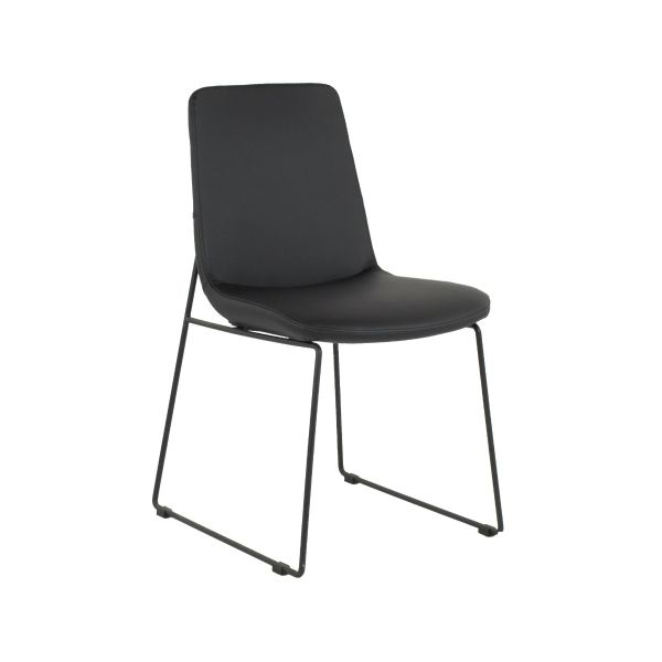 RICHMOND Chair - Base A Black Leatherette