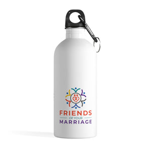 Friends Stainless Steel White/Gold Stand Up Water Bottle