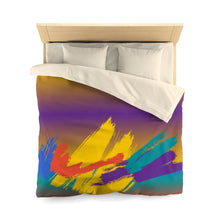 Multi-color Paint Splash Microfiber IdoMe2 Duvet Cover