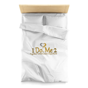 Gold/Silver IdoMe2 Microfiber Duvet Cover