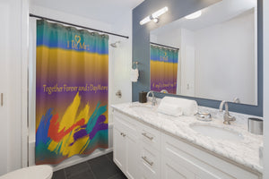 Mult-color Paint Splash Shower Curtains