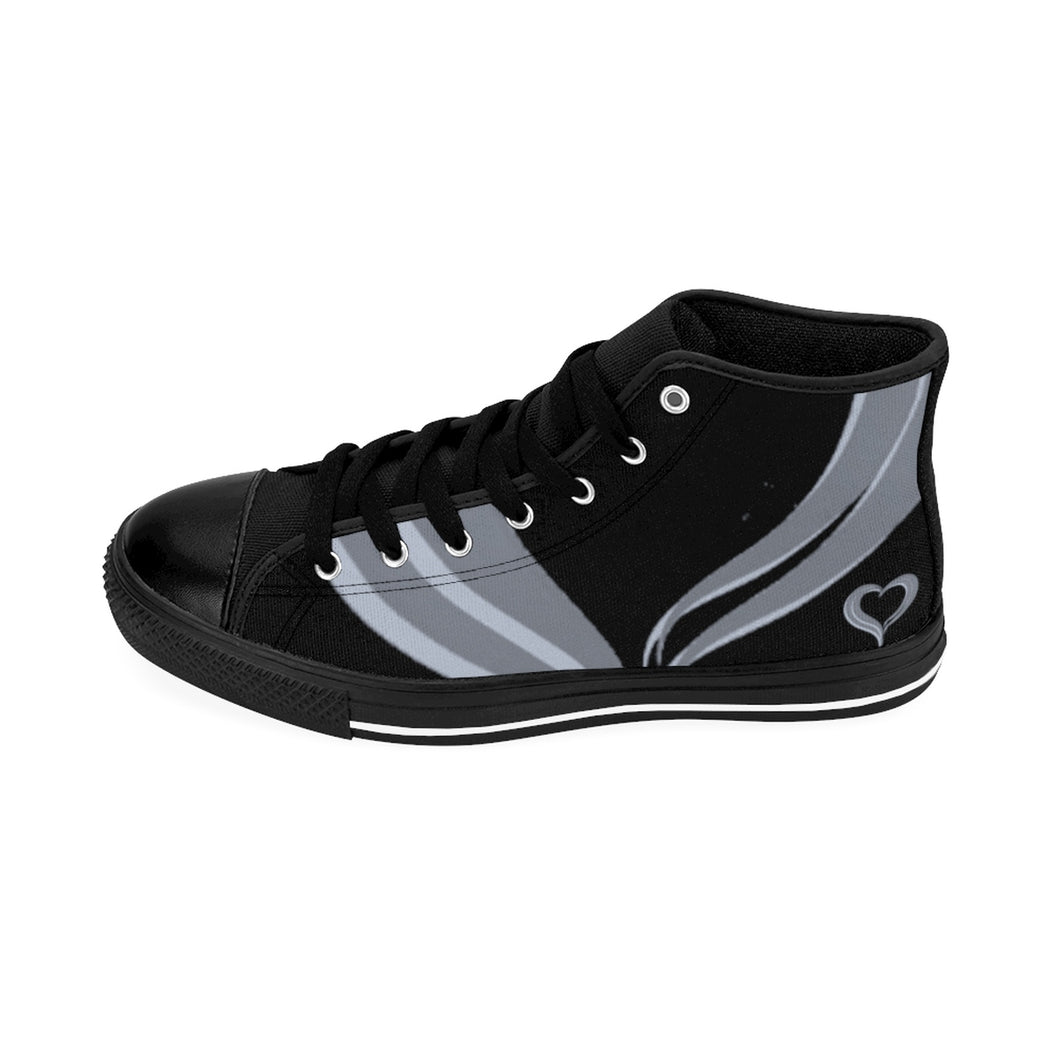Grey/BLACK Men's IdoMe2 High-top Sneakers