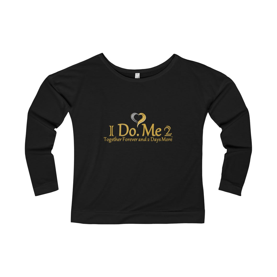 Gold/Silver Women's IdoMe2 French Terry Long Sleeve Scoopneck Tee