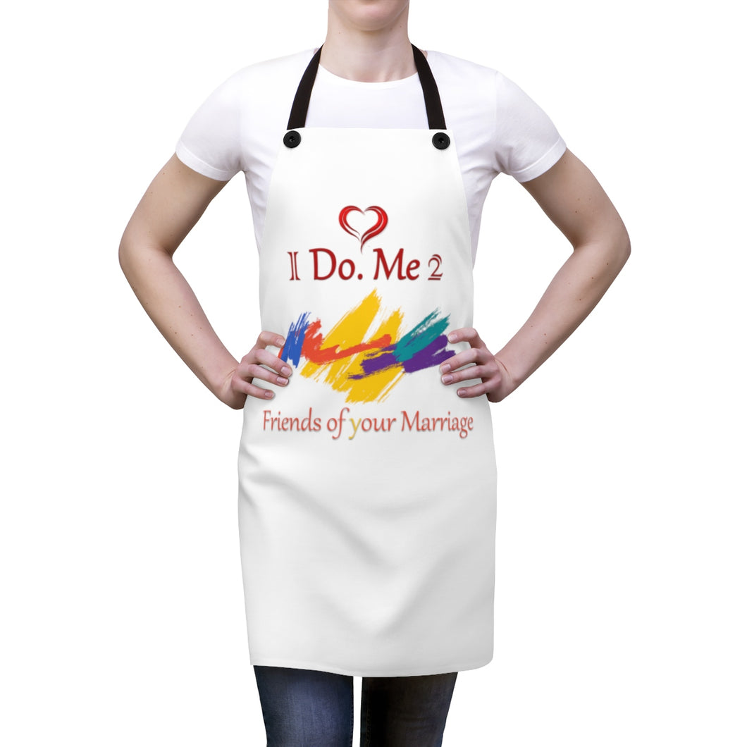 White I Do Me 2 Apron
