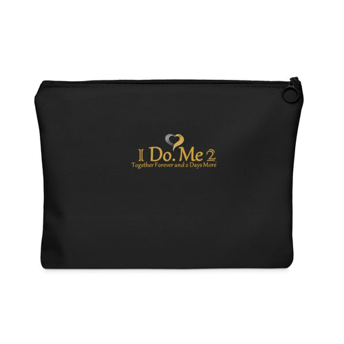 Black/Gold IdoMe2 Carry All Pouch - Flat