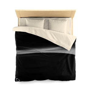 Black/Grey Microfiber IdoMe2 Duvet Cover