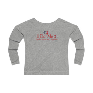 Women's IdoMe2 French Terry Long Sleeve Scoopneck Tee