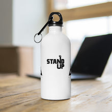 Stainless Steel White/Gold Stand Up Water Bottle