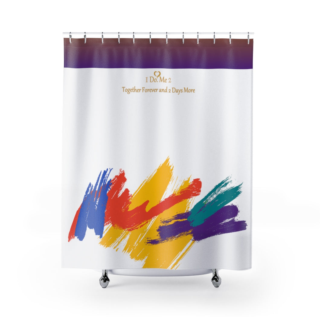 Colorful Paint Splash Shower Curtains