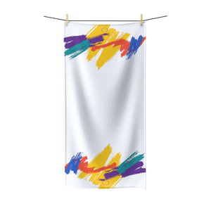 Multi-color/white Polycotton IdoMe2 Towel